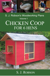 Cover photo of book of plans for chicken coop for 6 hens